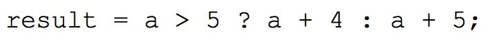 Пример тернарного оператора
