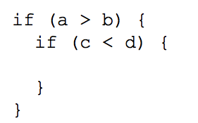 Вложенный условный оператор сравнение